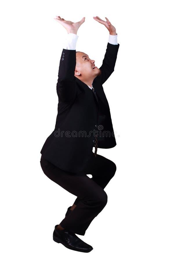 Man Holding Heavy Load stock photography