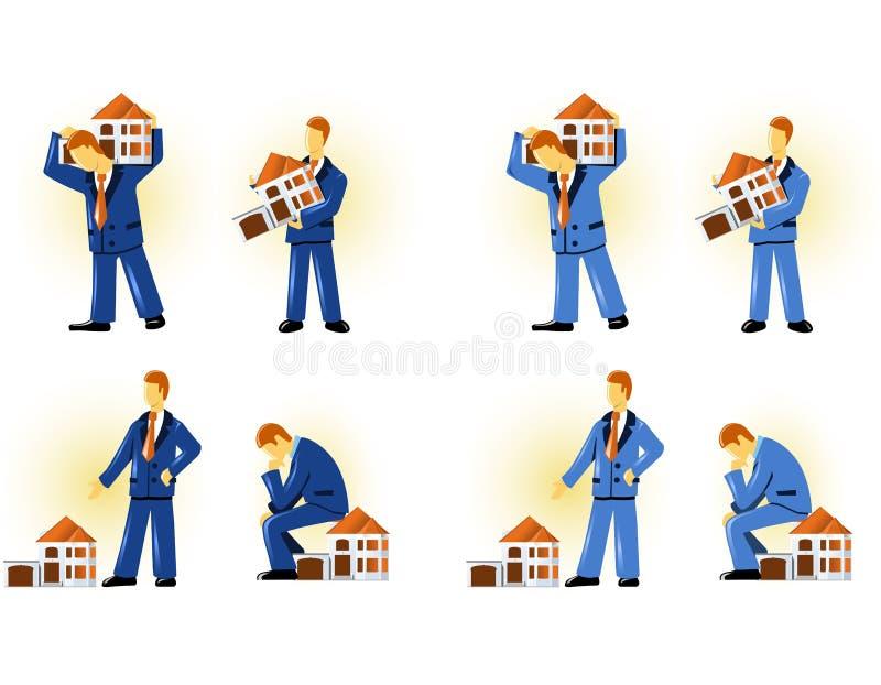 Man holding house vector illustration