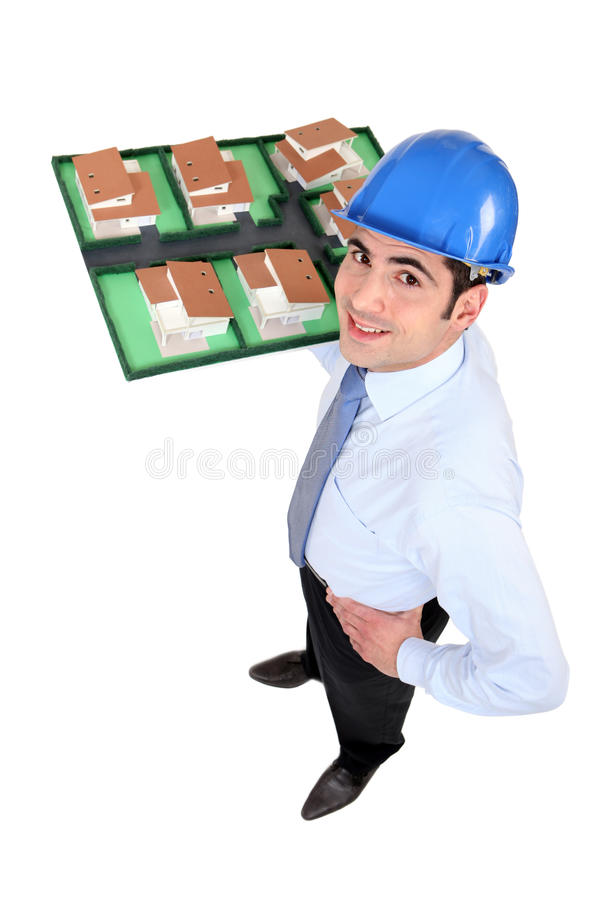 Download Man Holding Model Of Housing Stock Photo - Image of agent, consumerism: 26644310