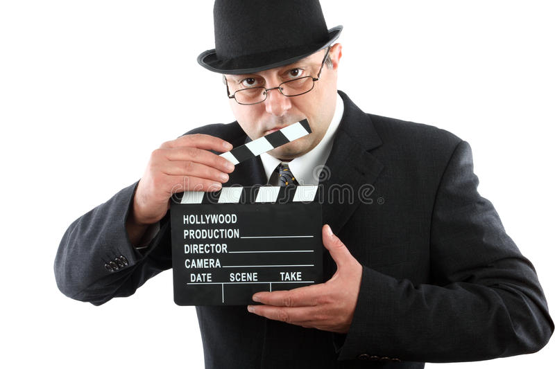 Download Man Holding Movie Clapboard Stock Image - Image: 21565035