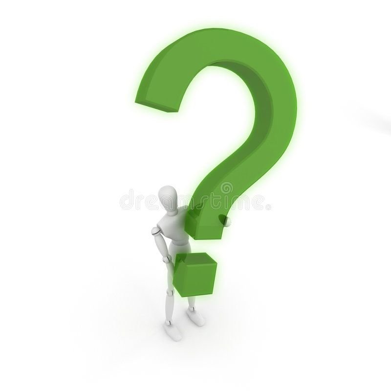Download Man holding Question Mark stock illustration. Image of image - 8204316