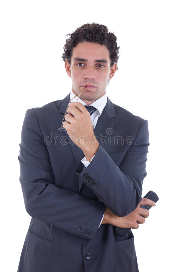Download Man Holding The Remote While Watching TV Stock Photo - Image: 37532076