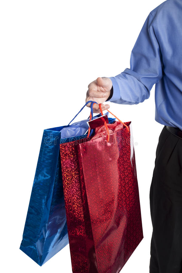 Man Holding Shopping Bags Royalty Free Stock Photos