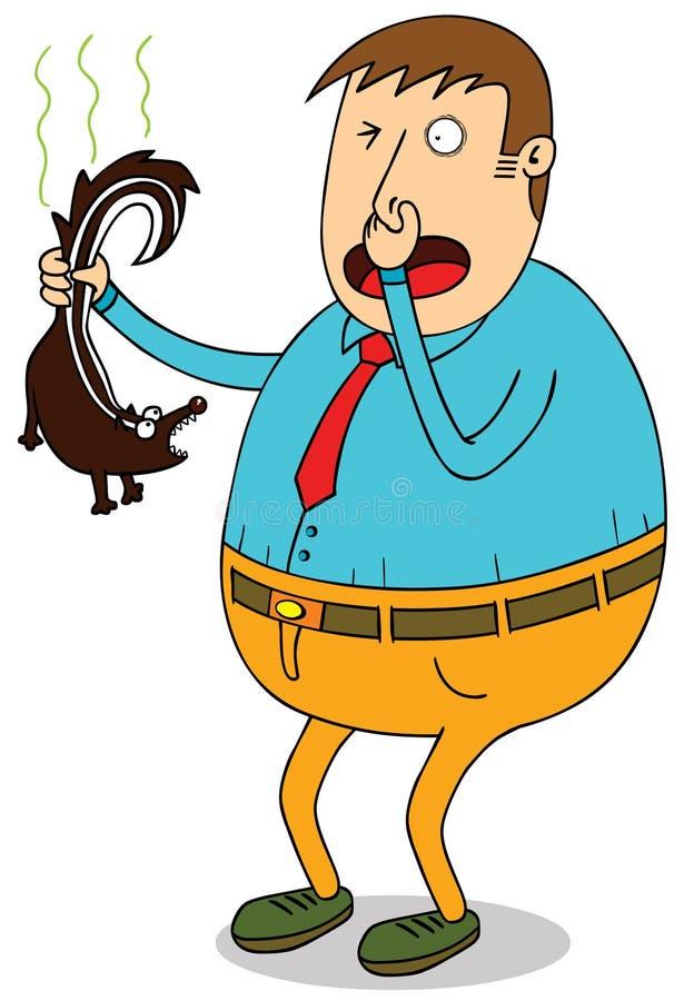 Download Man holding skunk stock vector. Illustration of clip - 28375874