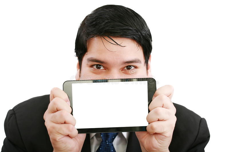 Download Man holding a touch pad stock photo. Image of equipment - 23765702