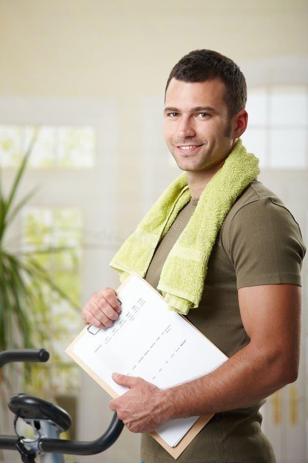 Free Man Holding Training Plan Royalty Free Stock Image - 13339446