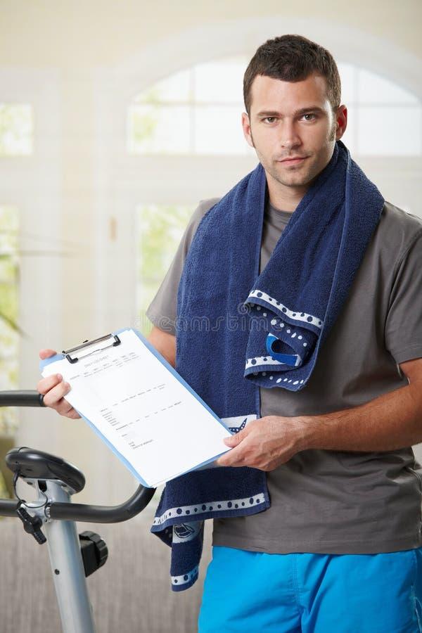 Man Holding Training Plan Royalty Free Stock Image