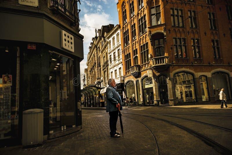 Man Holding Umbrella royalty free stock images