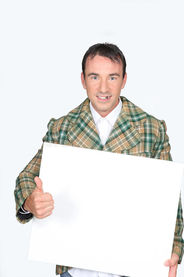 Download Man Holding A White Board Stock Photography - Image: 26463312