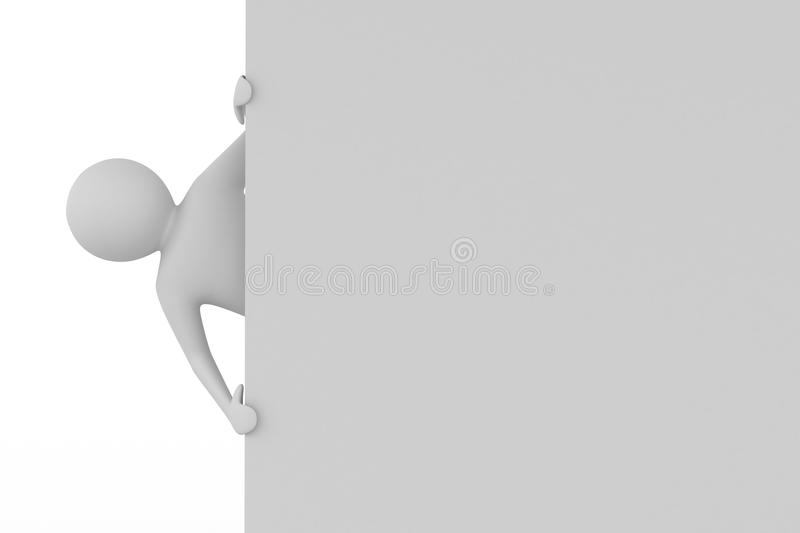 Download Man Holds The Poster In A Hand Stock Illustration - Image: 29853515