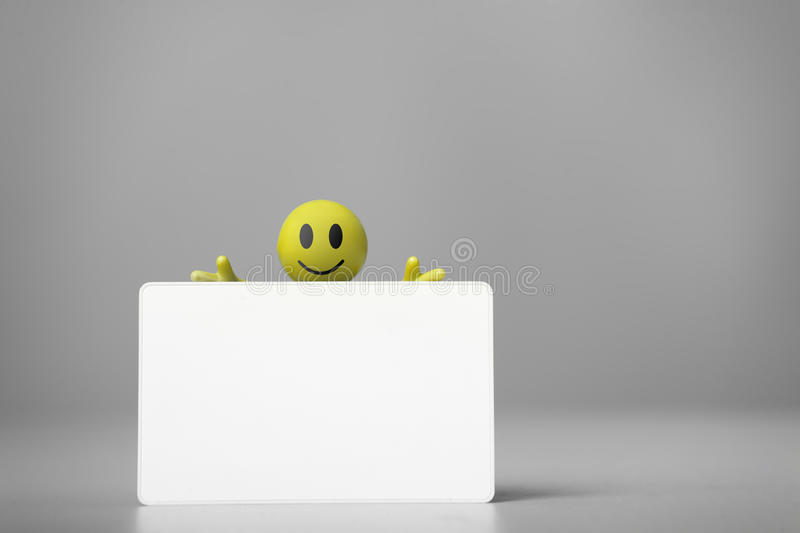 Man holds the poster in a hand. royalty free stock photos
