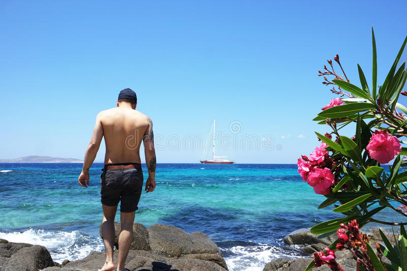 Man On Holiday royalty free stock photography
