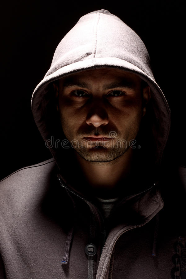 Download Man in a hood stock photo. Image of black, portrait, adult - 17002384