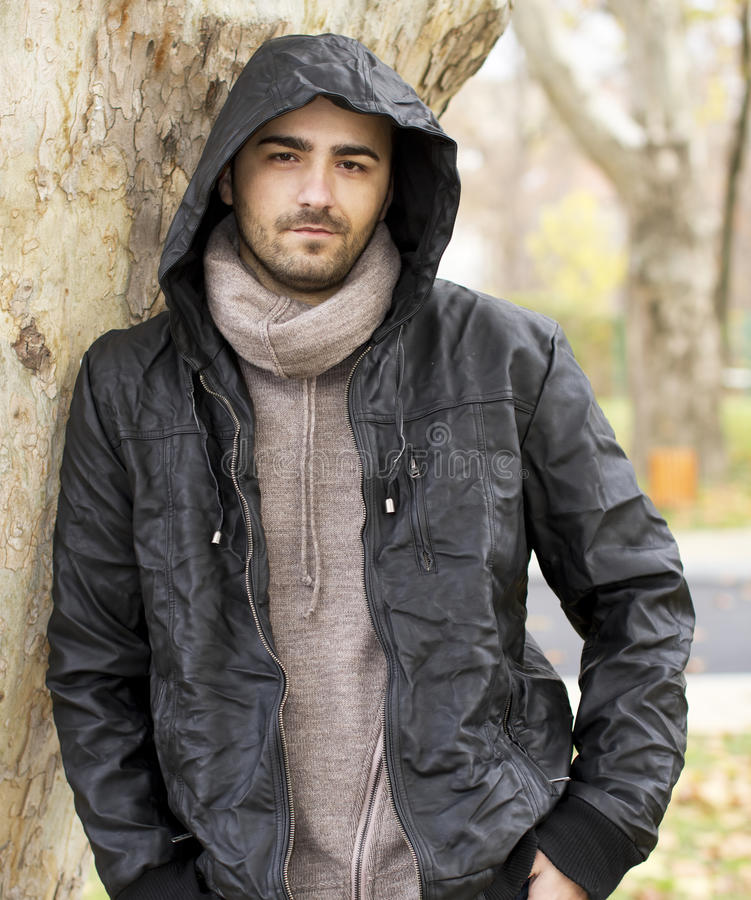 Download Man with hood stock image. Image of hood, clothes, portrait - 27999505