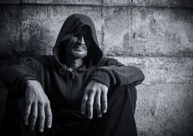 Man In A Hood Royalty Free Stock Photo