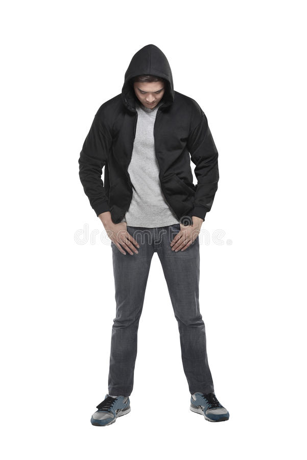 Man in hoodie royalty free stock photos