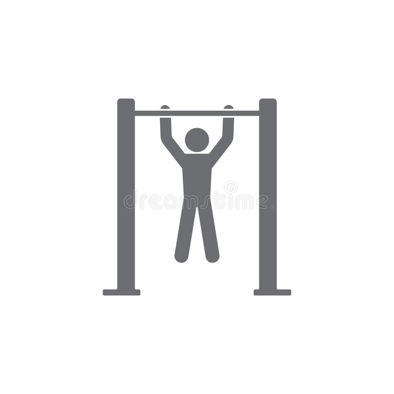 Men Gymnastics Horizontal Bar Stock Illustration