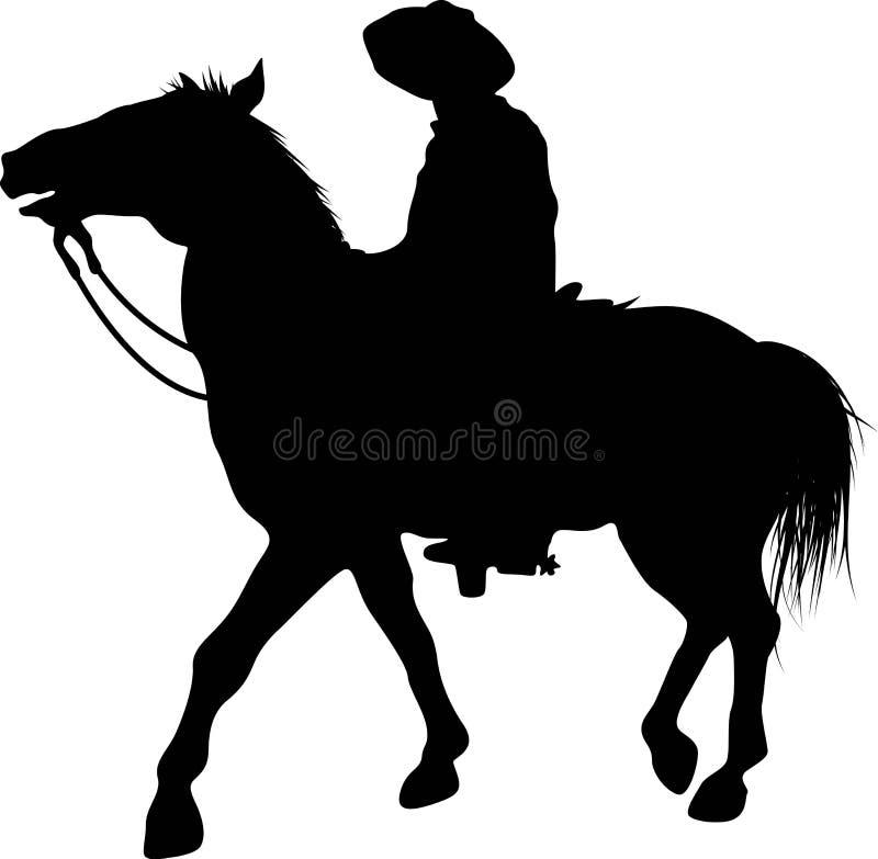 Man on horse royalty free stock photo