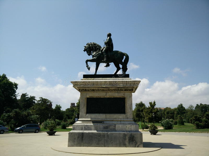 Man on the horse Statue stock photography