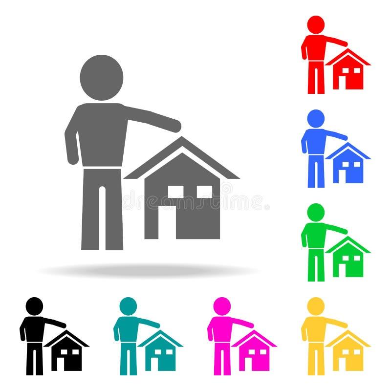 Mobile Home, Flat Rent, Multi-family House Stock Vector