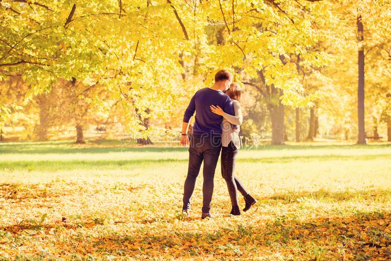 Man hugging a woman royalty free stock image