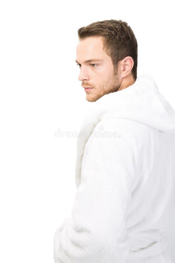 Man i badrock royaltyfri foto