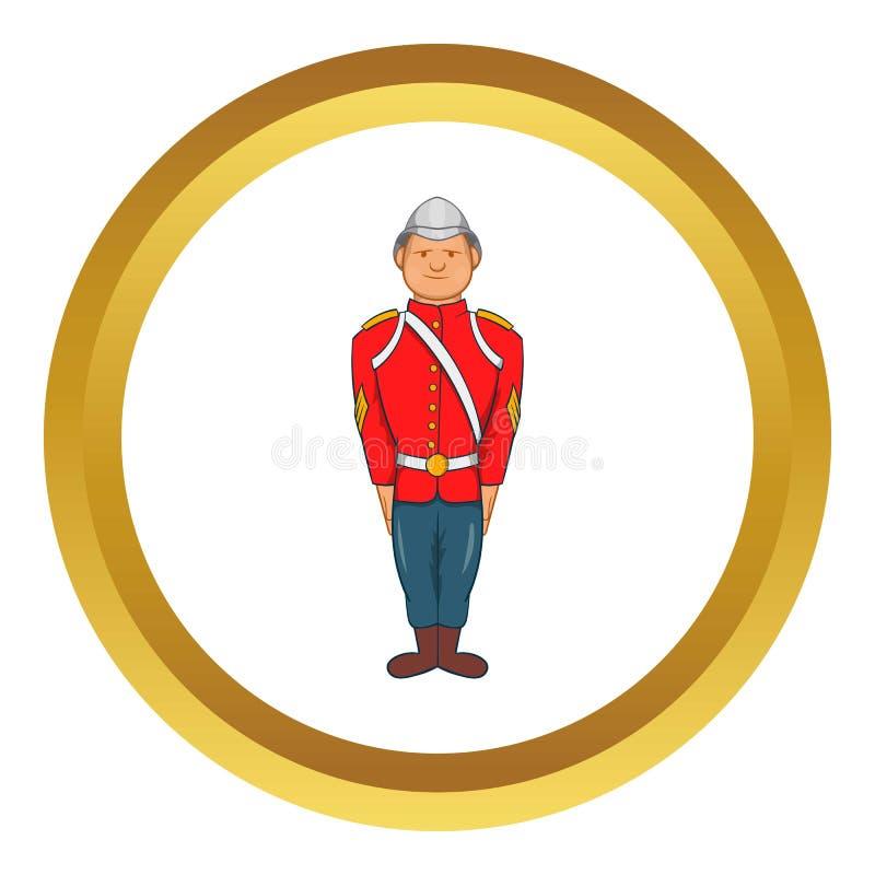 Man i en röd omslagssymbol vektor illustrationer