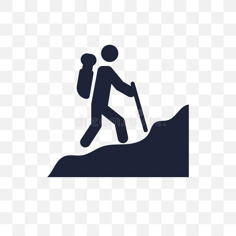 Man i genomskinlig symbol för vandring Man i vandringsymboldesign från Peo vektor illustrationer