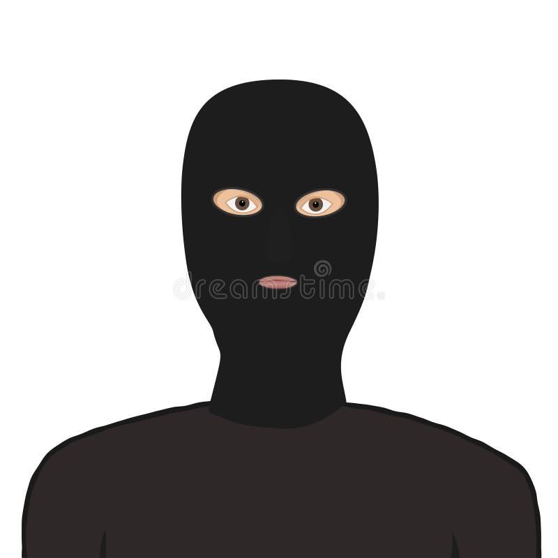 Man i maskeringen arkivfoto
