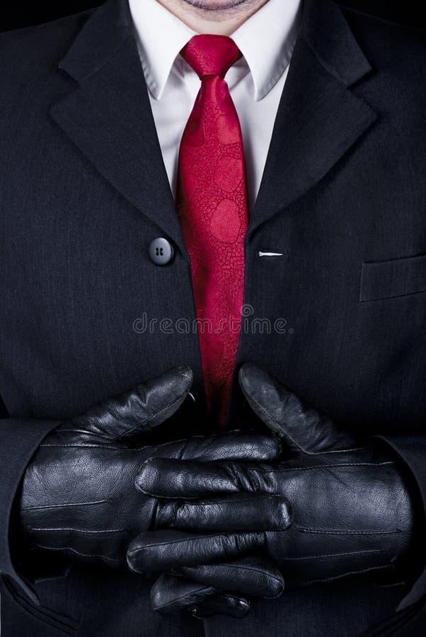 Man i svart royaltyfri bild