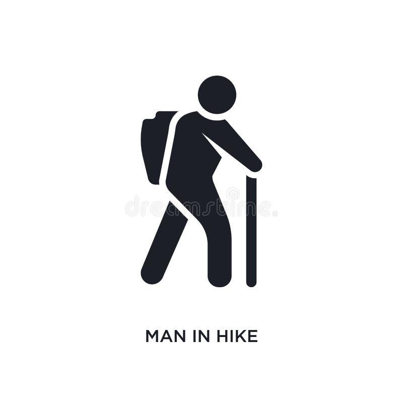 man i vandring isolerad symbol enkel beståndsdelillustration från människabegreppssymboler man i för logotecken för vandring redi vektor illustrationer