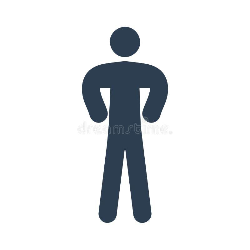Man Icon. Man Icon on white background, vector illustration royalty free illustration