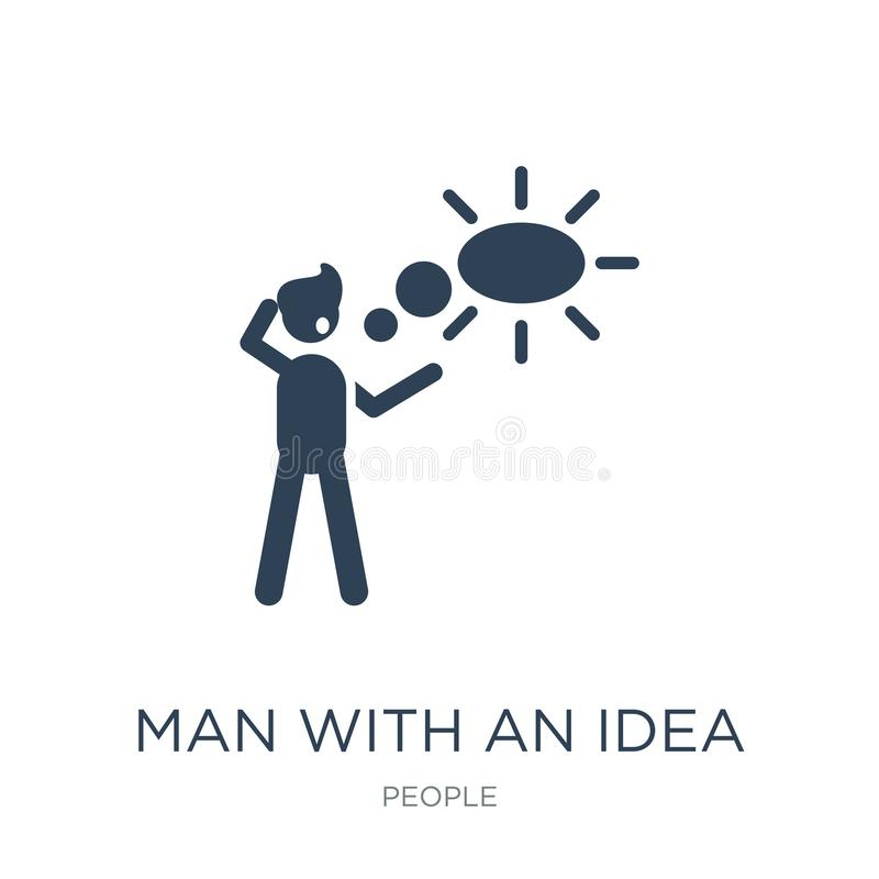 man with an idea icon in trendy design style. man with an idea icon isolated on white background. man with an idea vector icon stock illustration