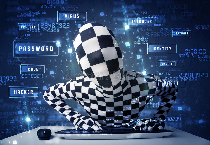 Download Man Without Identity Programing In Technology Enviroment With Cy Stock Photo - Image: 38305022