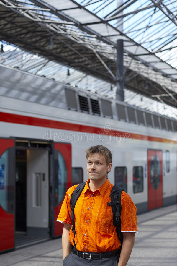 Free Man In Subway Or Train Station Royalty Free Stock Photos - 2643888