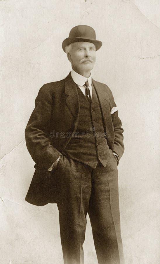 Free Man In Suit & Bowler Hat Stock Photos - 20631273