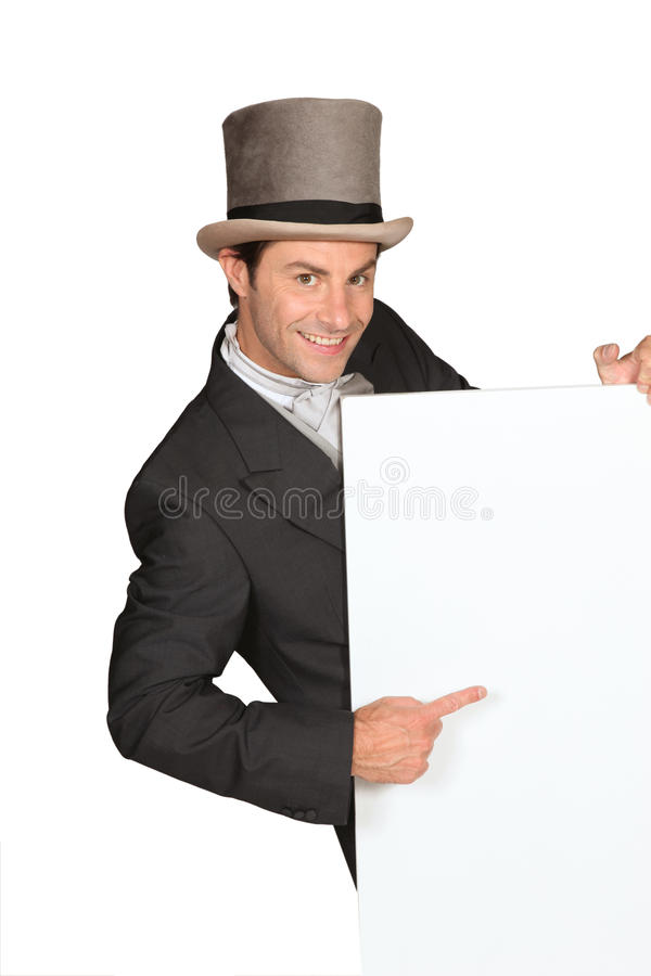Free Man In Top Hat Royalty Free Stock Photo - 23862085