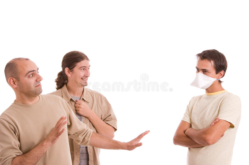 Man infected with h1n1 stock images