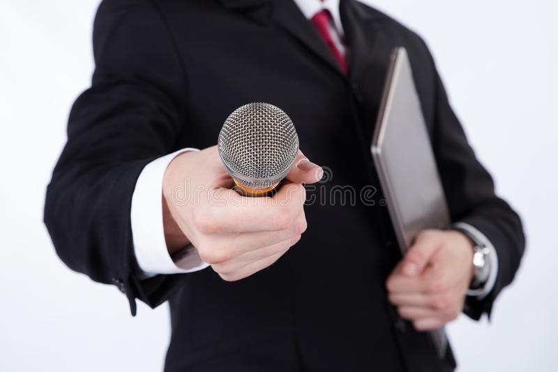 Man Interviews royalty free stock photography