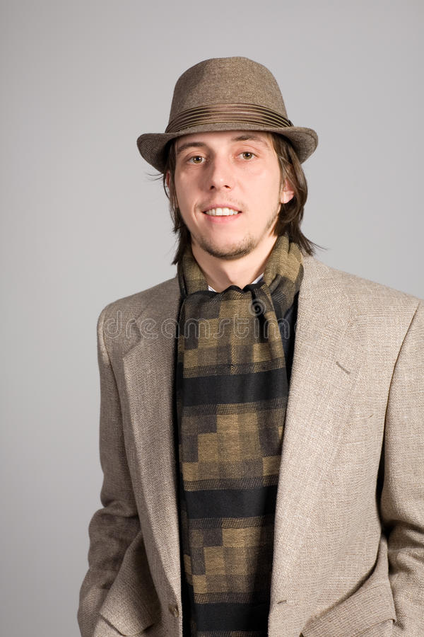 Man In A Jacket And Hat Royalty Free Stock Image