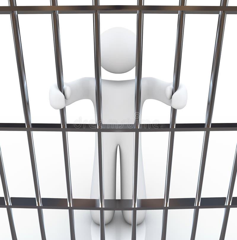Download Man in Jail Holding Bars stock illustration. Image of arrested - 14761257