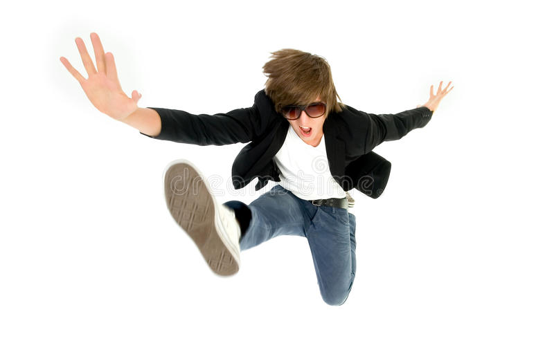 Download Man jumping stock photo. Image of action, jump, casual - 10086448