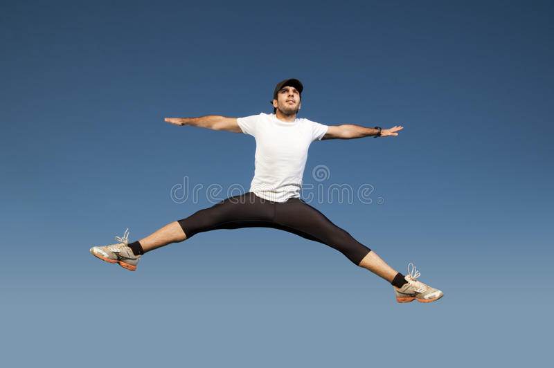 Download Man jumping stock image. Image of sport, jump, fitness - 16673097