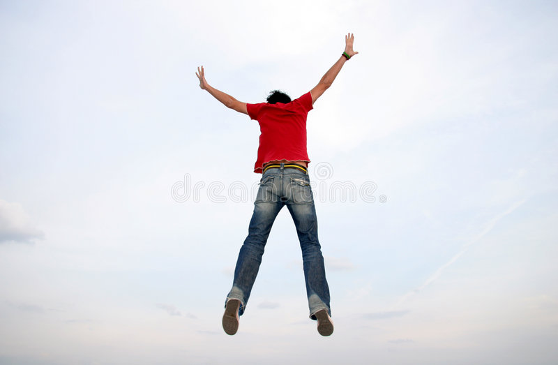 Download Man Jumping stock photo. Image of hands, flying, freedome - 645446