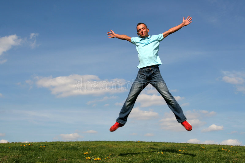 Download Man jumping stock photo. Image of jump, action, people - 774110