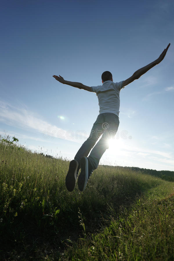 Download Man jumping stock image. Image of nature, happiness, leisure - 38793369