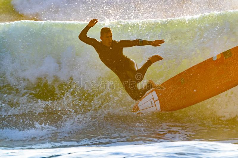 Man Jumping Off Surfboard In Sea Wave Free Public Domain Cc0 Image
