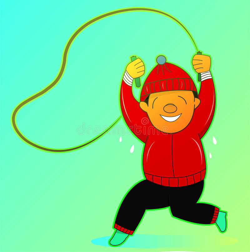 Man Jumping Rope Exercise Stock Photos