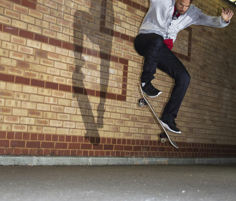 Download Man Jumping On A Skateboard Stock Images - Image: 27596494