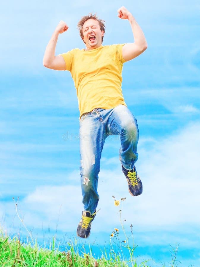 Man jumps royalty free stock image